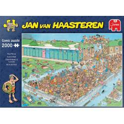 Jan van Haasteren - Embouteillages à la piscine