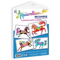 Aquarellum recharge: horses