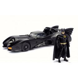 DC Comics - Jada Hollywood Rides 1989 Batman Batmobile & Figure 1:24