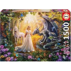 Dragon, princess and unicorn (1500)