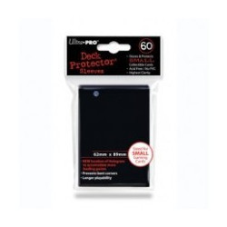 Ultra Pro: Sleeves Small Black  (60p) - 62x89 mm
