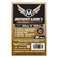 Mayday Sleeves: Premium Ultra-Fit 65x100mm (80p)