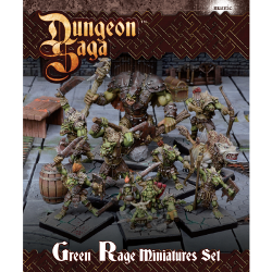 Dungeon Saga: Green Rage Mini Set