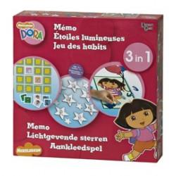 Dora 3 in 1 (memo, sterren, aankleedspel)