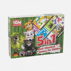 Talking Tom and Friends: 5 in 1 Best Classical Games For Children
