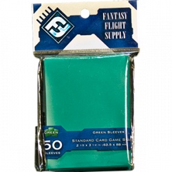 Fantasy Flight Sleeves: Standard Card Game 50 pcs: Green 63.50x88mm