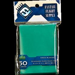 Fantasy Flight Sleeves: Standard Card Game 50 pcs: Green 63.50x88mm