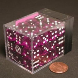 Translucent Purple Dice D6 12mm 36 st
