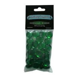 Gaming counters emerald green