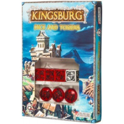 Kingsburg Dice and Token Set Red