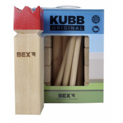 Kubb Viking Original Rubber Wood - Red King