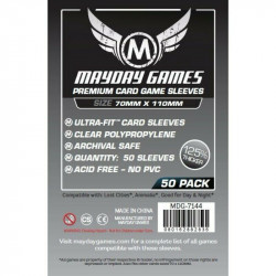 MAYDAY SLEEVES: PREMIUM CARD GAME SLEEVES 70X110MM (50P)