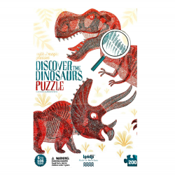 Discover the Dinosaurs puzzle (200) - included 2 magic glasses