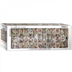 The Sistine Chapel Ceiling - Michelangelo Panorama puzzle (1000)