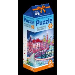 1001Kleuren - Amsterdam bij Nacht- Eveline Bouwkamp puzzle (500)