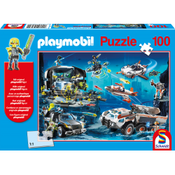 Playmobil, Top Agents, 100 pieces - Puzzle