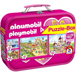 Playmobil, Puzzle-Box pink, 2x60, 2x100 - Puzzle