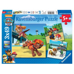 Paw Patrol Team on 4 legs puzzels (3 x 49)