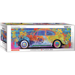 VW Beetle Splash Panorama Puzzle - Parker Greenfield (1000)