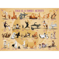 Yoga is a Family Activity puzzle (500)