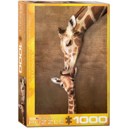 Giraffe Mother's Kiss puzzle (1000)