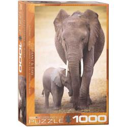 Elephant & Baby puzzle (1000)