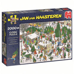 Holiday Shopping 2 in 1 puzzle - Jan van Haasteren (2 x 1000)