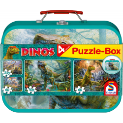 Dinos, Puzzle-Box, 2x60, 2x100 pieces - puzzle