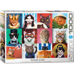 [Damaged] Funny Cats Puzzle - Lucia Heffernan (1000)