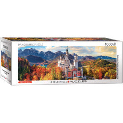 [Damaged] Neuschwanstein Castle, Germany Panorama Puzzle (1000)