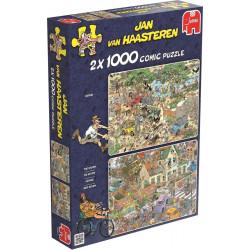 Safari & Storm 2 in 1 puzzles - Jan van Haasteren (1000)
