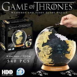 "Game of Thrones Globe 9"" Puzzle - Westeros and Essos"