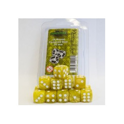 Blackfire Dice - 16mm D6 Dice Set - Marbled Yellow (15 Dice