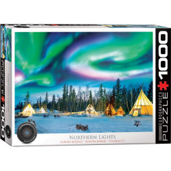 Northern Lights puzzle - Yellowknife (1000)