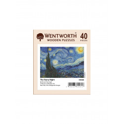 The Starry Night Wooden Puzzle - Vincent van Gogh (40)