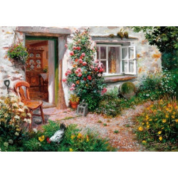 Roses Around the Door Wooden Puzzle - Stephen Darbishire (40)