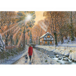 Winter Woodland Wooden Puzzle - Richard Harpum (500)