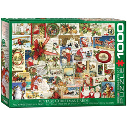 Vintage Christmas Cards Puzzle (christmas) (1000)