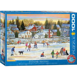 Evening Skating Puzzle - Patricia Bourque (christmas) (1000)