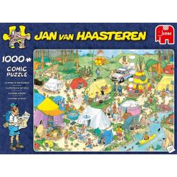 Jan van Haasteren - Kamperen in het bos