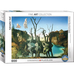 Eurographics Puzzles: Swans Reflecting Elephants - Salvador Dalí