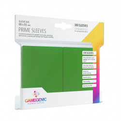 Prime sleeves - Green - 63.50x88mm (100)