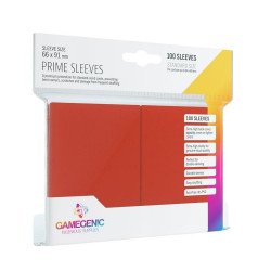 Prime sleeves - Red - 63.50x88mm (100)