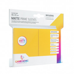 Matte Prime sleeves - Yellow - 63.50x88mm (100)