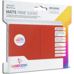 Matte Prime sleeves - Red - 63.50x88mm (100)