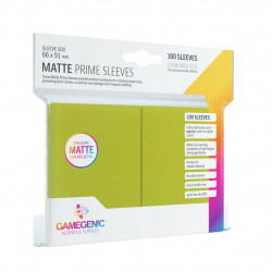 Matte Prime sleeves - Lime - 63.50x88mm (100)