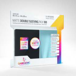 Matte double sleeving pack - Black - 63.50x88mm (100)