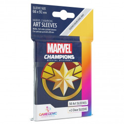Sleeves: Marvel Champion Art Sleeves: Captain Marvel (50+1)